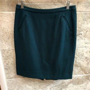 Loft teal skirt Size 8